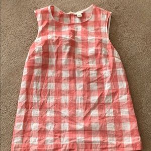 J crew red and white check blouse 00
